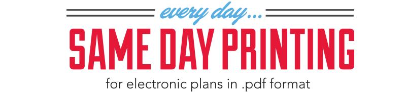 Same Day Plan Printing // Abilene, Texas